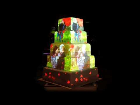 Wedding Cake 3D Projection Mapping